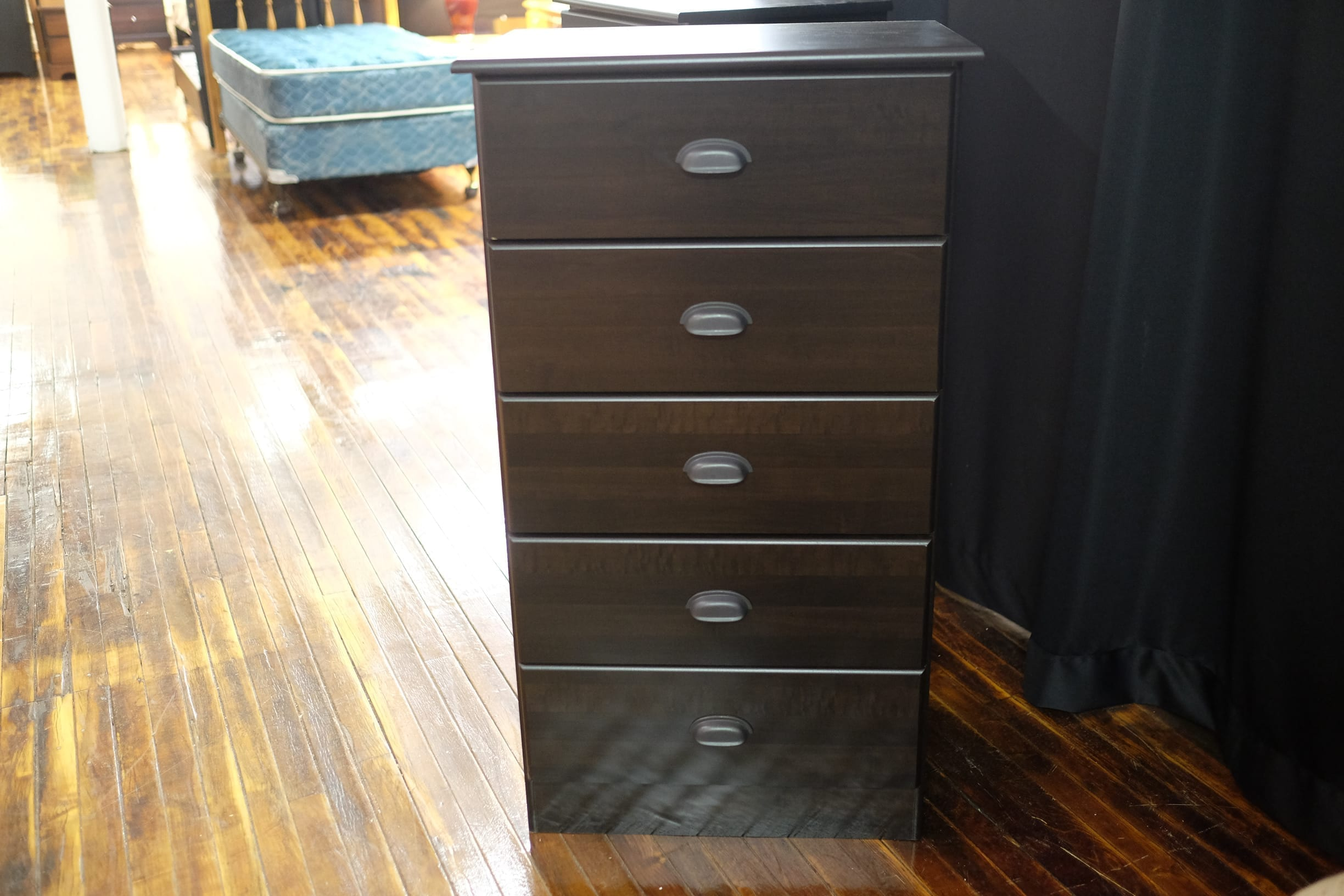 Five drawer chest espresso