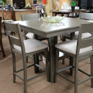 Standard loft pub set square dining room furniture with chairs
