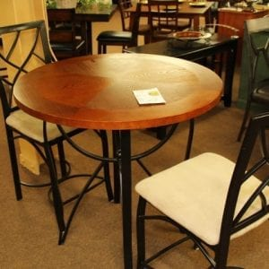Pittsburgh Furniture Steve Silver Lite Cherry Pub round table