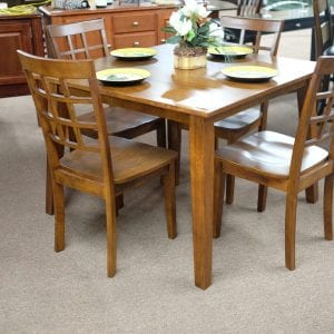 Jofran Simplicity Caramel finish five piece dinette set Pittsburgh Furniture Outlet furniture for sale