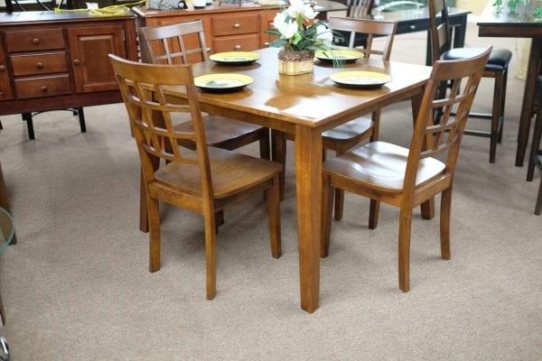 Jofran Simplicity Caramel finish five piece dinette set Pittsburgh Furniture Outlet furniture for sale