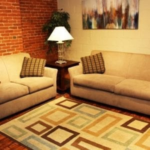 Broo Taupe love seat and sofa set available at Pittsburgh Furniture Outlet