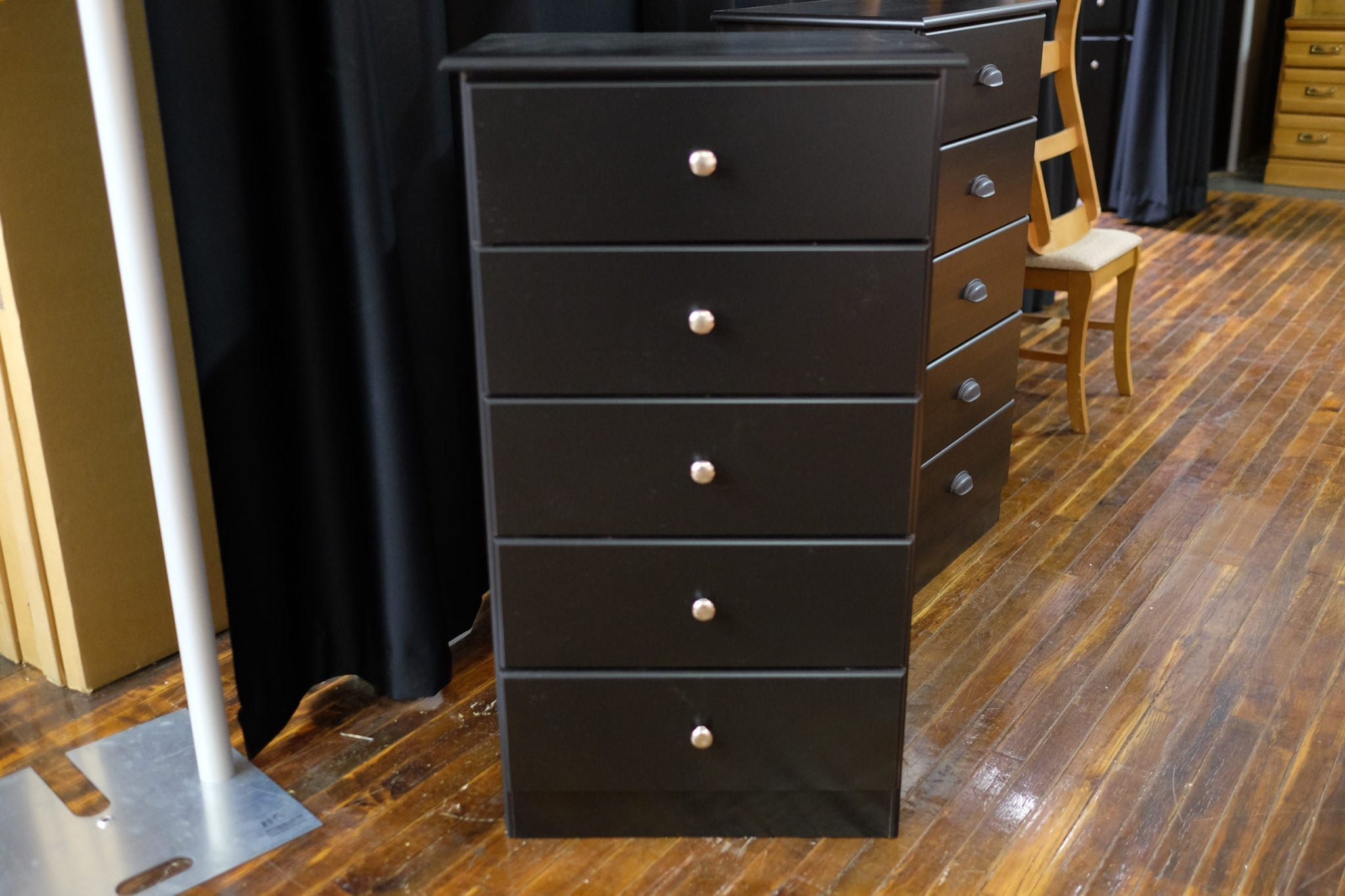 Five drawer black chest available at Pittsburgh Furniture Outlet furniture for sale