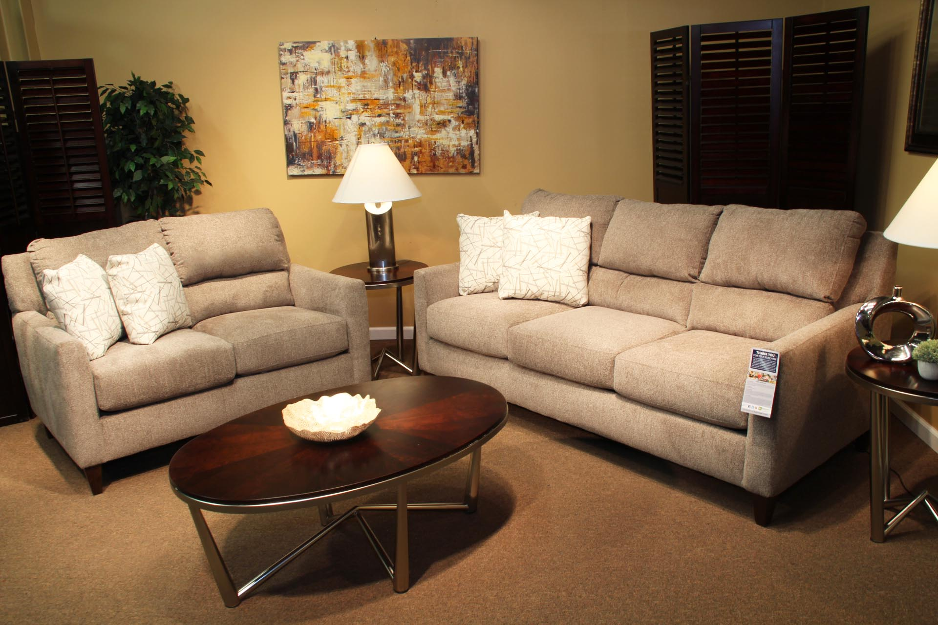 Furby Pewter Sofa And Loveseat Pittsburgh Furniture Outlet