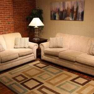 Loggy Sand love seat and sofa set available at Pittsburgh Furniture Outlet