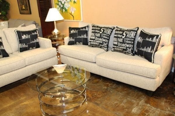 EZ Taupe Sofa & Love seat set at Pittsburgh Furniture Outlet