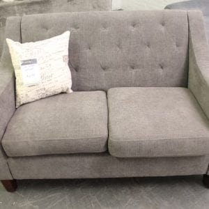 Pittsburgh Furniture Outlet Furniture Sales Grey Tufted Loveseat