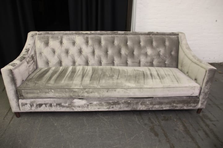 Gray Tufted Sofa Pittsburgh Furniture
