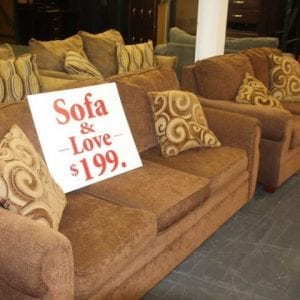 Pittsburgh Furniture Outlet Furniture Sales Jive Walnut Sofa & Loveseat