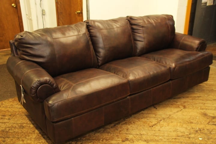 Ashley Brown Leather Sofa