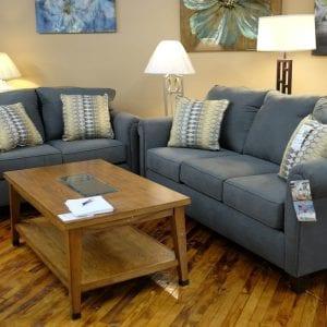 Halo gunmetal sofa and love seat Pittsburgh Furniture