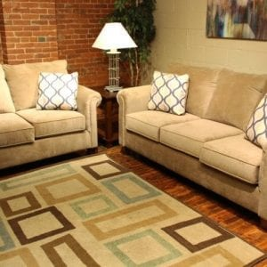 Nina Coffee love seat and sofa set available at Pittsburgh Furniture Outlet