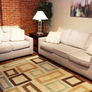 Pittsburgh Furniture Outlet Bounce Canvas sofa and love seat set