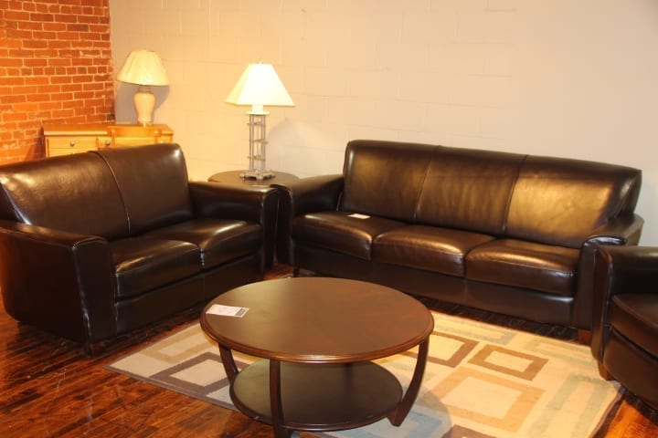 Corporate Leather Sofa & Loveseat – Pittsburgh Furniture Outlet
