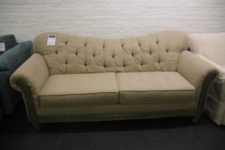 Pittsburgh Furniture Outlet S Ivory Tufted Sofa