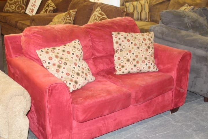 Super Red Used Loveseat Gmtry Best Dining Table And Chair Ideas Images Gmtryco